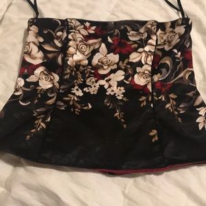 Floral strapless top White House/Black Market